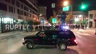 USA: Viral video shows George Floyd protester pepper-sprayed by Michigan police