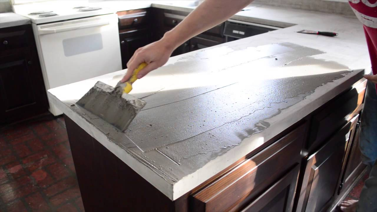 Spreading Ardex Feather Finish On Our Kitchen Counters   YouTube
