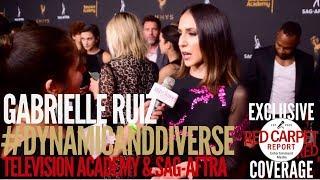 Gabrielle Ruiz #CrazyExGirlfriend interview at 5th Dynamic & Diverse Television Academy & SAG-AFTRA