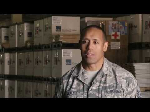 Air Force Medical Service logistics warehouse supports opera