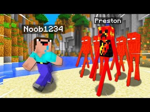 Top 10 Ways To PRANK Noob1234 As A MOB! (Preston Minecraft)