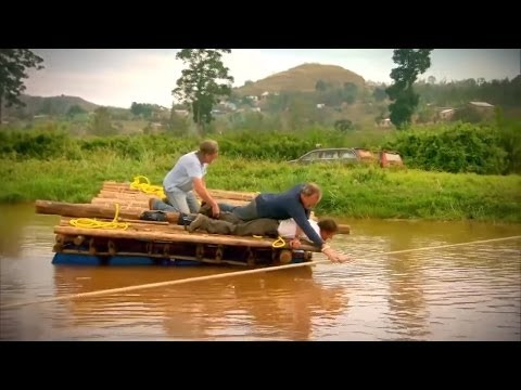 Top Gear: Jeremy, James and Richard Try to Cross a River on a Raft | Africa Special Funny Moment