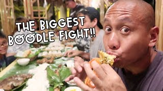 BIGGEST BOODLE FIGHT EVER (FILIPINO STYLE EATING)! | Vlog #124