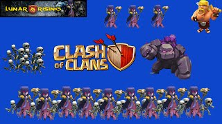 Clash Of Clans- 20 Witch raid?! New Lonely troop Series!