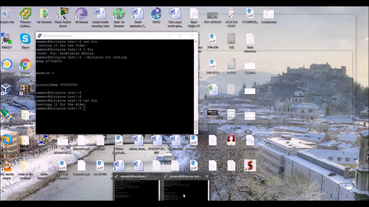 how to get a root shell using dirtycow exploit linux