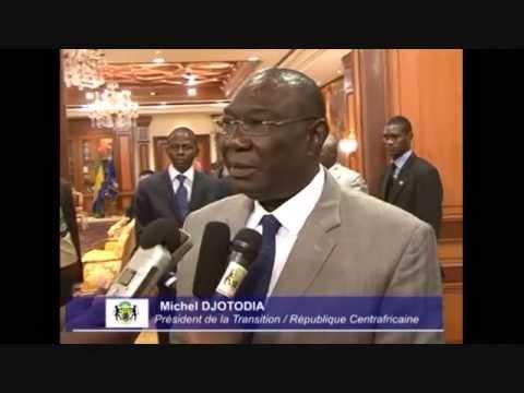 Libreville : Rencontre du président Bongo avec Michel Djotodia