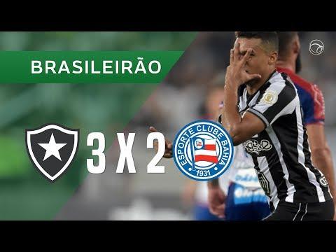 BOTAFOGO 3 X 2 BAHIA - GOLS - 02/05 - BRASILEIRÃO 2019