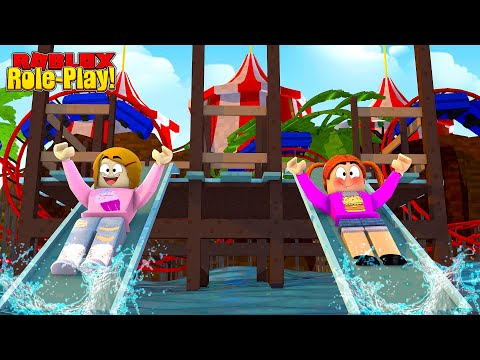 Roblox Waterpark With Molly & Daisy!