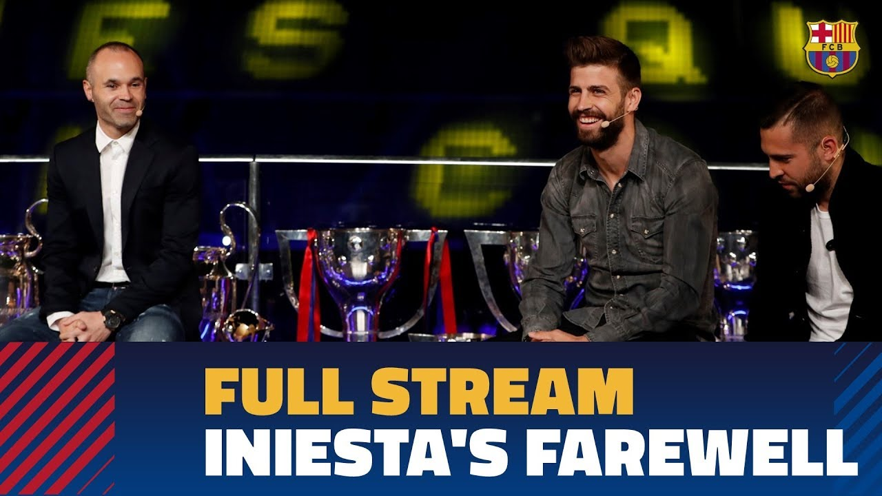 FULL STREAM | Institutional farewell for Andrés Iniesta at the Camp Nou