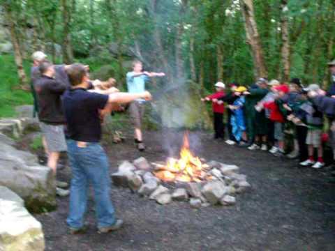 Singin in the rain, 23rd Harrogate Cub Scouts, spring camp '09