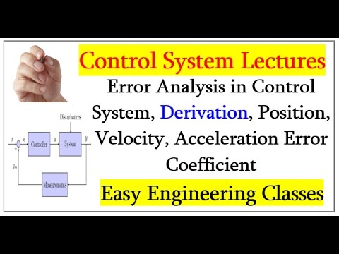 Error Analysis in Control System, Derivation, Position, Velocity, Acceleration Error Coefficient