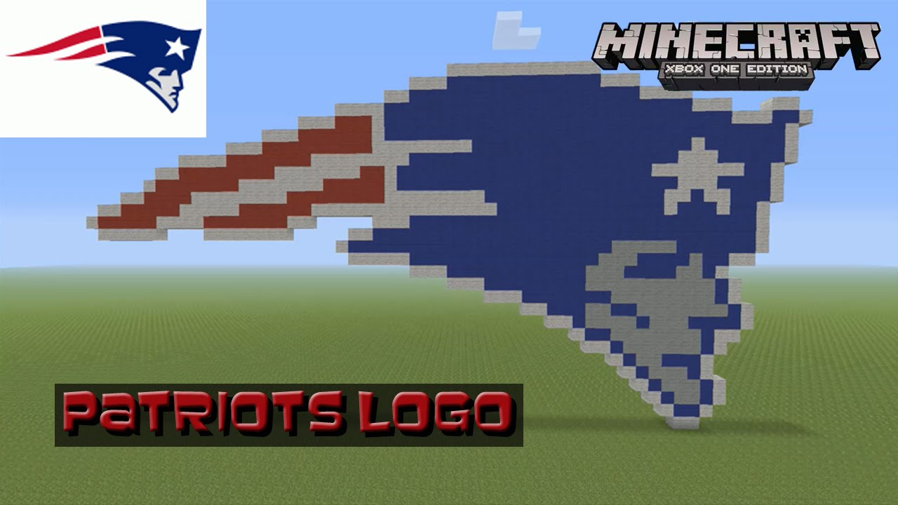 Minecraft pixel art tutorial and showcase new england patriots minecraft pixel art tutorial and showcase new england patriots logo super bowl youtube voltagebd Choice Image