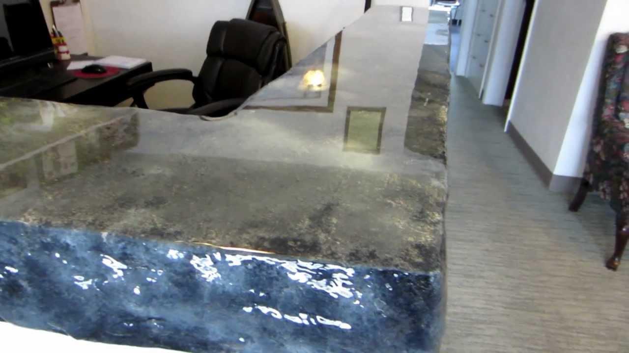 Concrete Countertop Over Laminate Concrete Countertop Over Formica Youtube