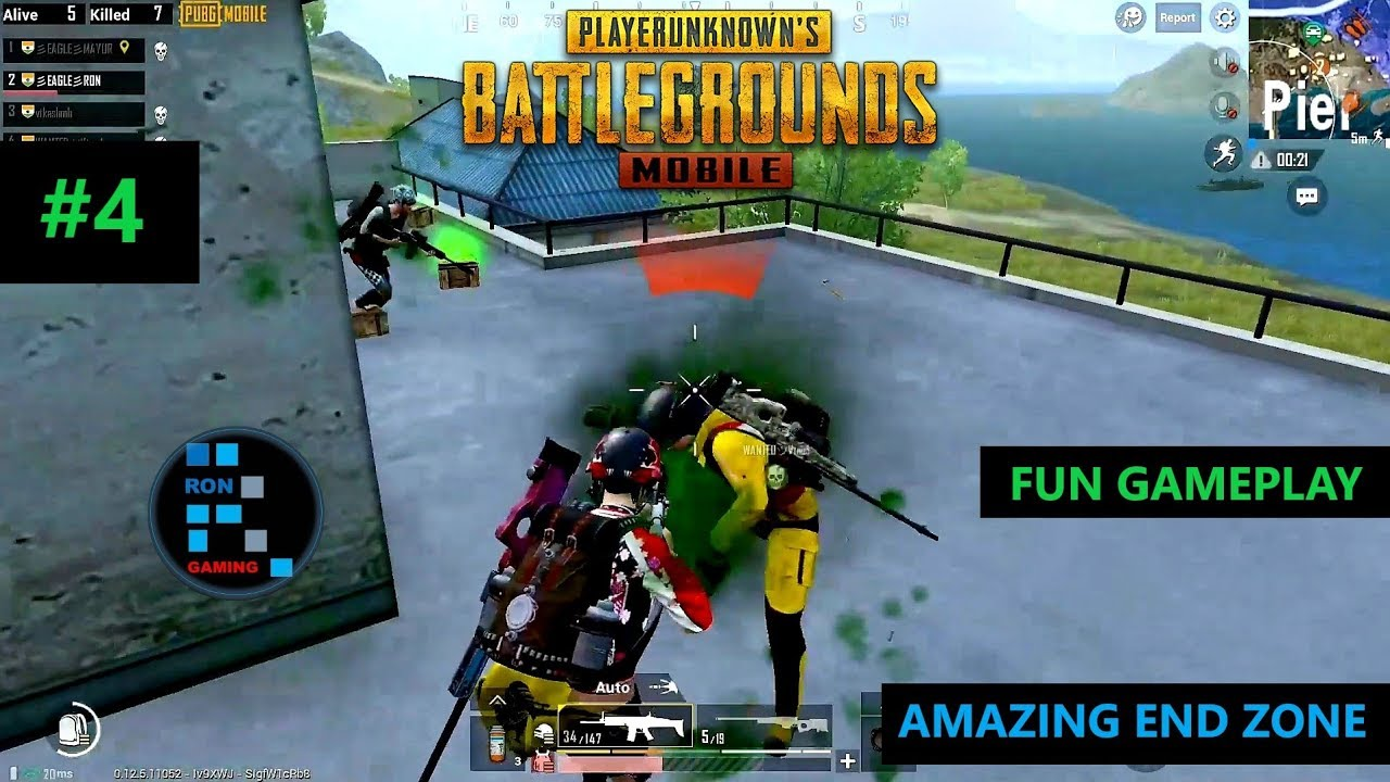 [Hindi] PUBG MOBILE   AMAZING SOLO VS SQUAD SITUATION IN THE END ZONE CLUTCH