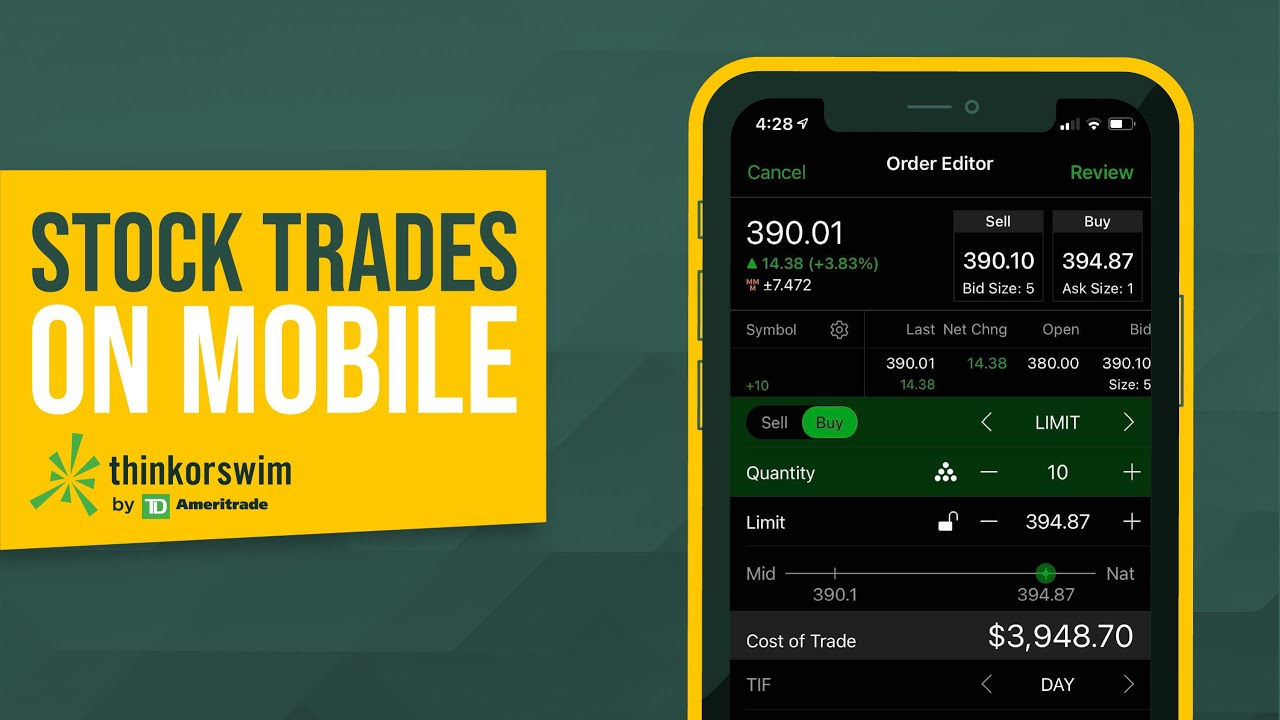 How to Buy and Sell Stocks on thinkorswim® Mobile | #shorts