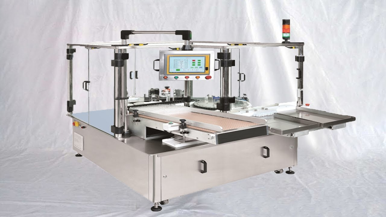 Flavor bottles glass container labeling machine rotary sticker labeller in  food packaging industry