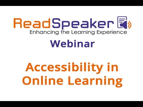 Webinar: Accessibility in online learning
