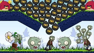 Angry Birds Fried Zombie - BURN ALL ZOMBIE BY DROPPING EXPLOSIVE TNT!