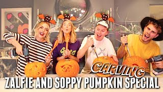 One of Seanelliottoc's most viewed videos: ZALFIE AND SOPPY PUMPKIN CARVING SPECIAL