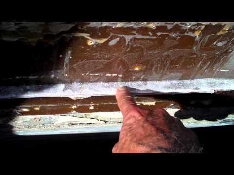 columbia 45 sailboat rubrail repair 67