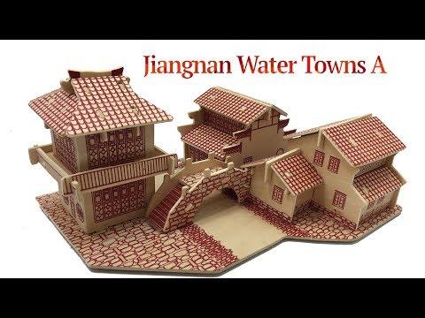 DIY Miniature Jiangnan Water Towns A ~ 3D Wood Craft Construction Kit