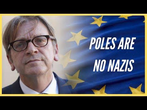 Mr Verhofstadt, Poles are no Nazis (Odpowiedź na oszczerstwa o Polakach w europarlamencie)