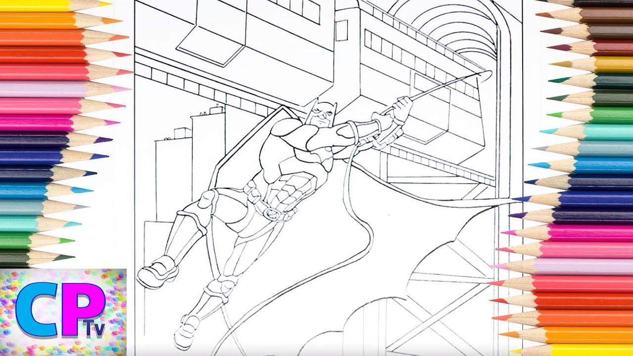 Batman Coloring Pages, Train is Above Batman Head ...