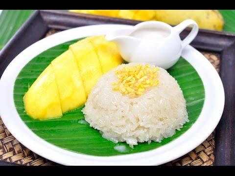 Thai Sweet Sticky Rice with Mango (Thai Dessert) – ข้าวเหนียวมะม่วง (Khao Niew Ma Muang) [4K]