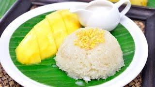 Thai Sweet Sticky Rice With Mango (thai Dessert) - ข้าวเหนียวมะม่วง (khao Niew Ma Muang) [4k]
