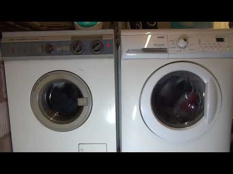 Wash And Dry Race : 25 years in technology Zanussi turbodry jet system Washer Dryer (1987) vs (2012)