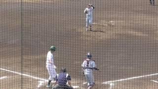 長島慎司内野手 四球シーン