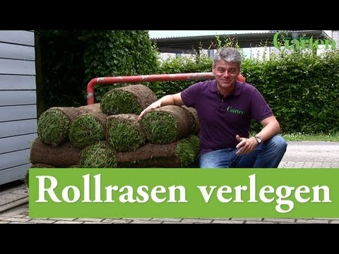 rollrasen verlegen youtube. Black Bedroom Furniture Sets. Home Design Ideas