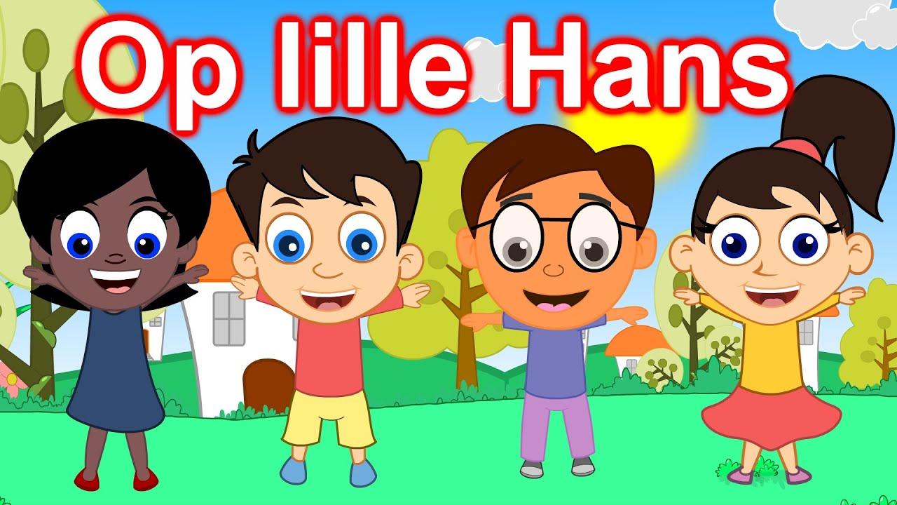 Op lille Hans | 36 minutter mix med tekst | Danske Børnesange