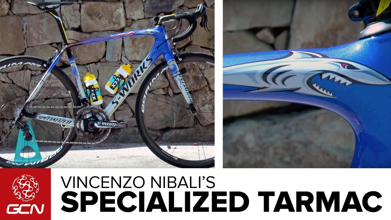 Vincenzo Nibali's Custom Painted Specialized S-Works Tarmac
