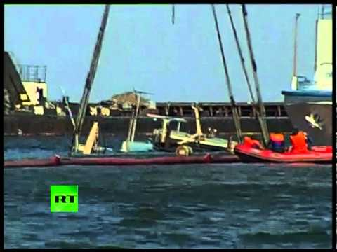 First video of sunken Bulgaria ship raised from Volga river bed
