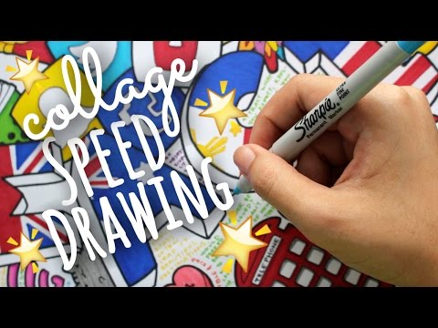 Collage Speed Drawing 2016! | SimplyMaci