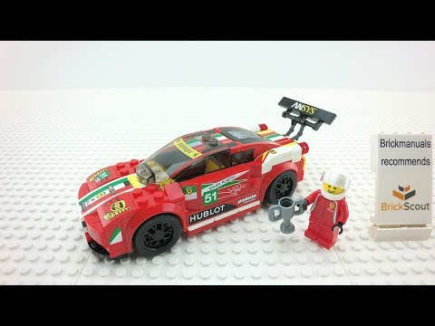 75908 Lego Speed Champions Ferrari 458 Italia Gt2 Build Review 4k