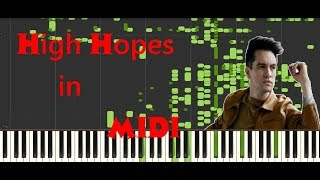 Panic! At The Disco - High Hopes In Midi | Hear Lyrics When There Are None, Audi
