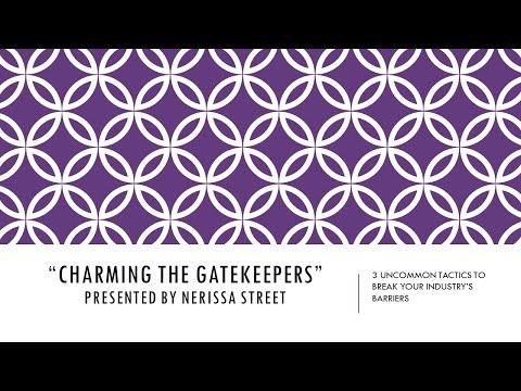 "Nerissa Street ""Charming The Gatekeepers"" presentation at Florida International University"