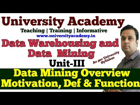 DWM14: Data Mining Overview, Motivation, Definition & Functionalities | Data Mining Architecture