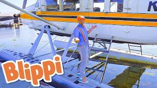 Blippi Explores a Seaplane - Educational Videos for Kids