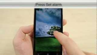 How to turn on alarm clock on the Asus Padfone 2