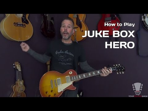 Juke Box Hero by Foreigner - 80's Guitar Lesson