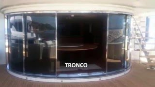 [TRONCO] Automatic Curved and telescopic sliding door (弧線型縮疊自動門)