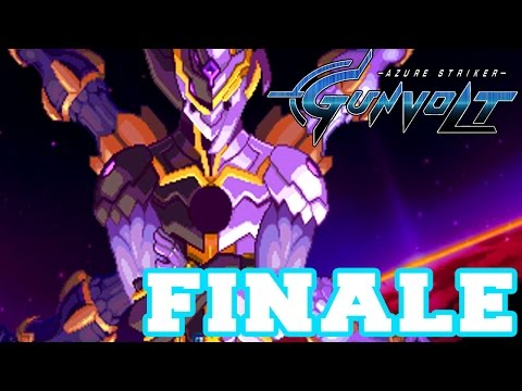 Azure Striker Gunvolt - Walkthrough Part 12 Mission Idolatry Final Boss: Nova FINALE + Ending [HD]