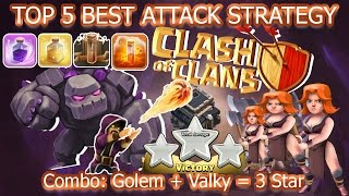 Coc Th9 Best Attack Strategy. Town Hall 9 Top 5 Attack Combo Golem 3 Star 2017 Clash of clans