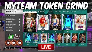 NBA 2K20 MYTEAM TOKEN GRIND FOR OUR LAST PINK DIAMOND! UNLIMITED GAMEPLAY LIVE