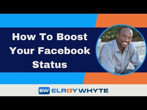 How To Boost Your Facebook Status
