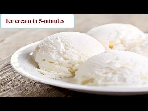 Ice-cream In 5 Minutes   5 मिनट मैं आइसक्रीम बनाने का तरीका   Ice-cream Recipe