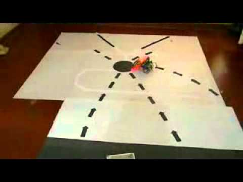 how to make legomindtorms robot follow a black line